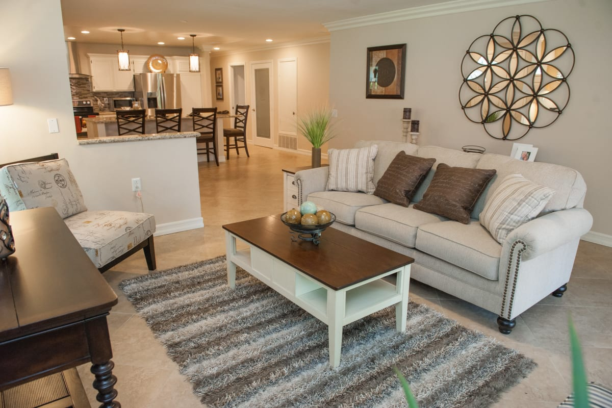 Large living room at Westmont Village in Riverside, California