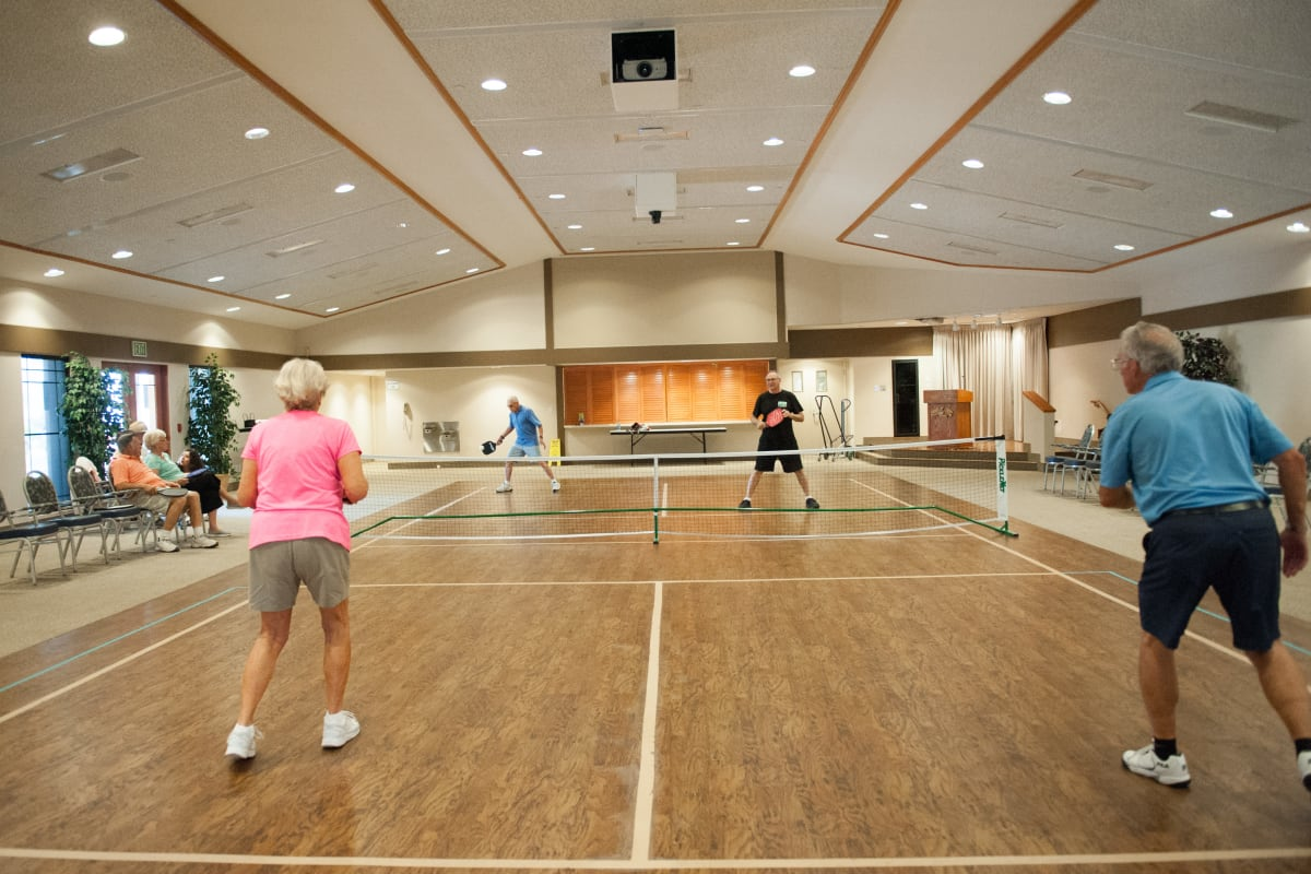 Pickle ball at Westmont Village in Riverside, California