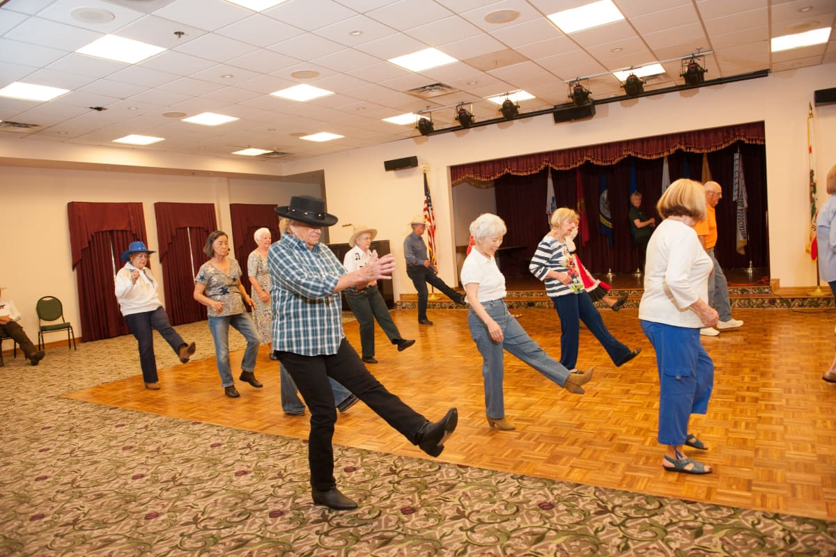 Dance lessons at Westmont Village in Riverside, California