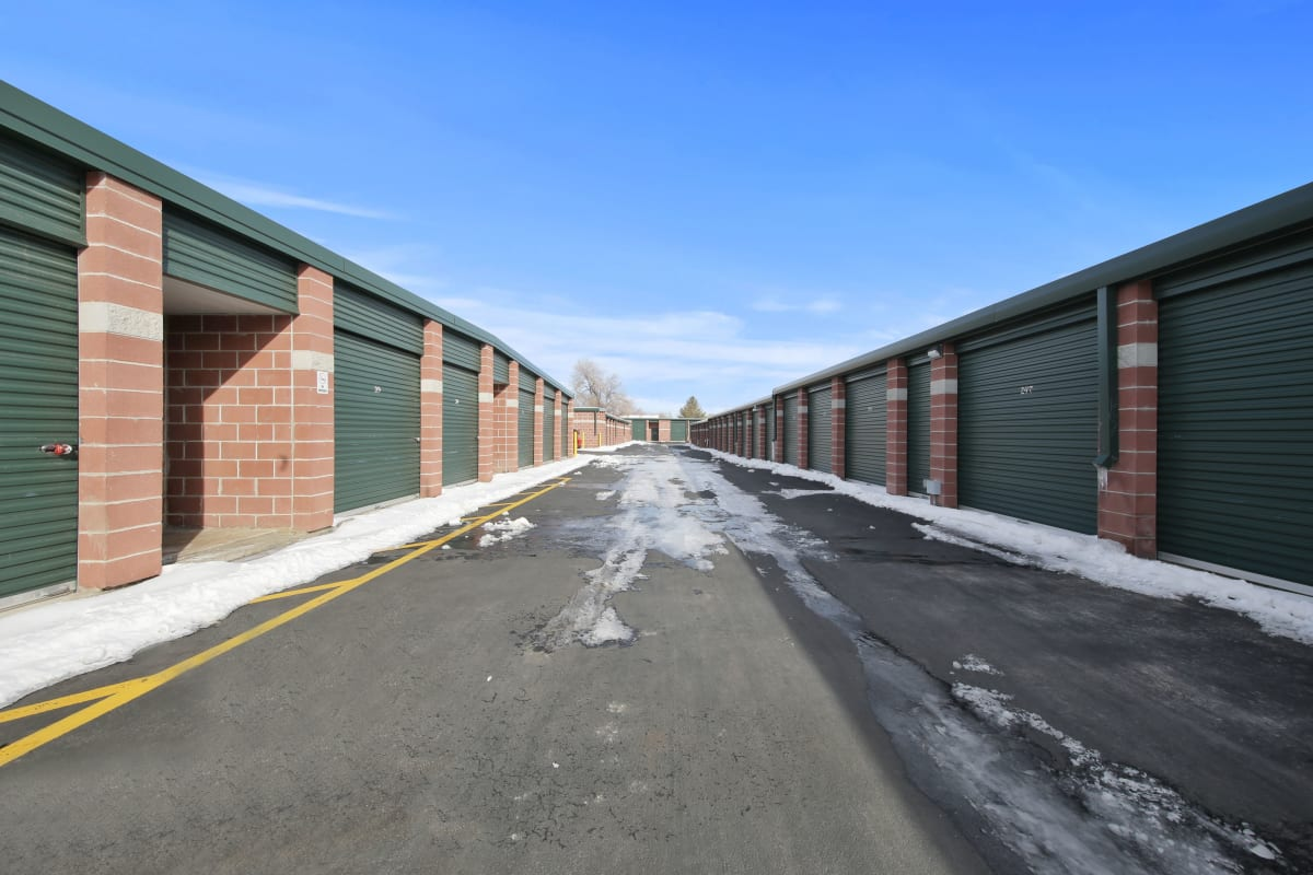 A wide driveway for loading outdoor units at Storage Star Fairfield in Fairfield, California