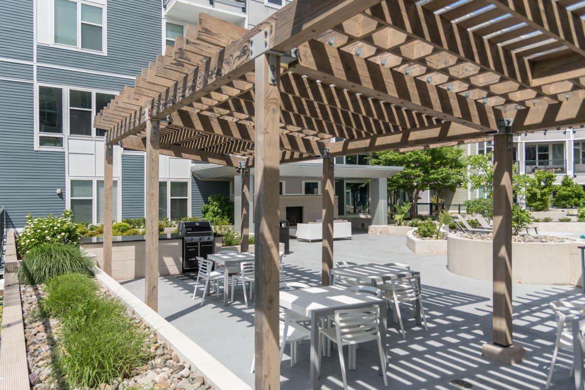 Outdoor patio area at Indigo 19 in Virginia Beach, Virginia