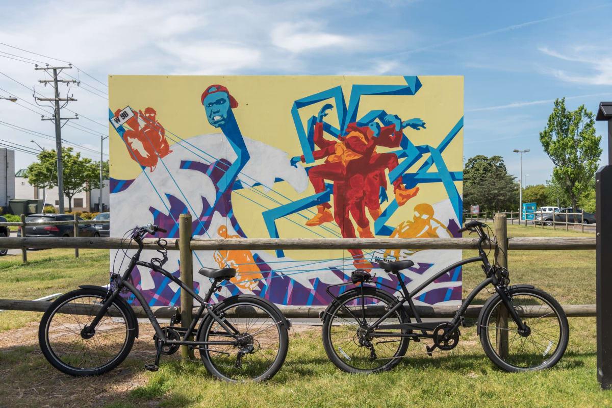 Vibrant artwork in Virginia Beach, Virginia near Indigo 19