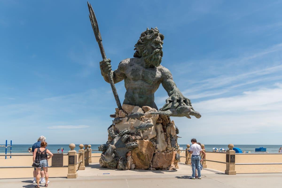 Statue on the beach in Virginia Beach, Virginia near Indigo 19