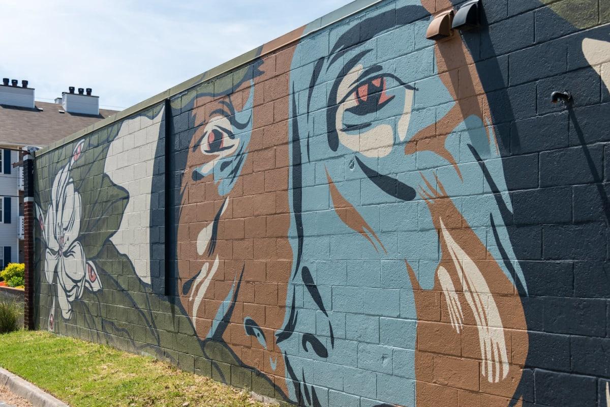 Mural on a wall in Virginia Beach, Virginia near Indigo 19