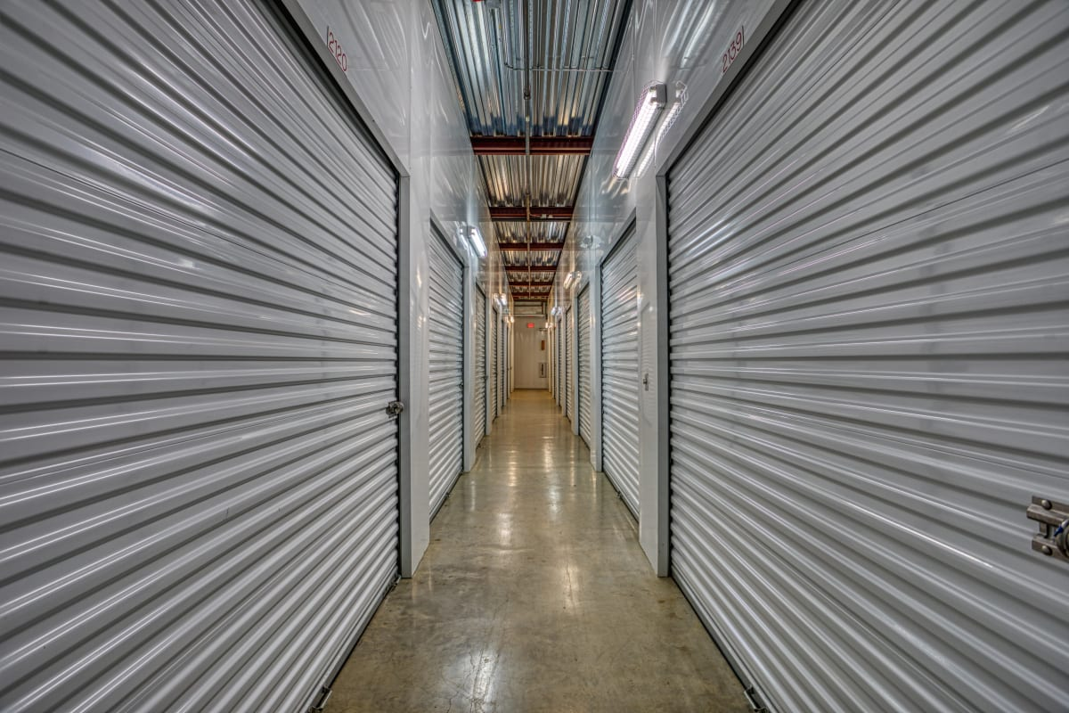 Climate-controlled storage units at Devon Self Storage in Yukon, Oklahoma