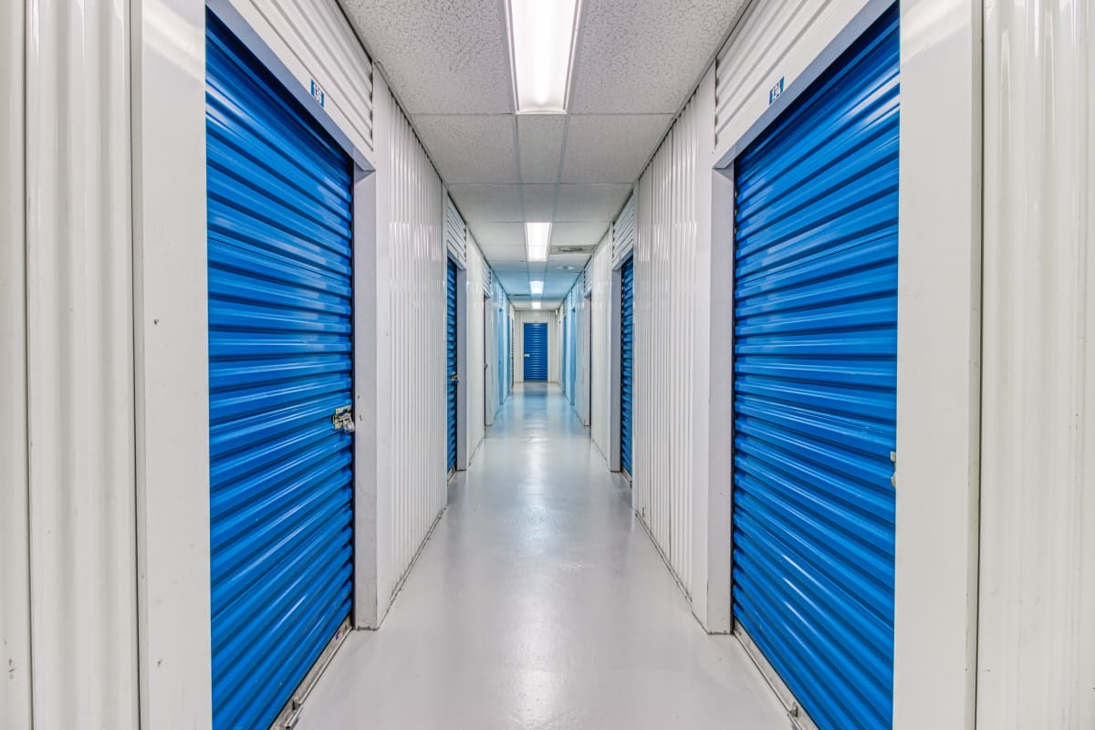 Climate-controlled storage units at Devon Self Storage in Thousand Palms, California