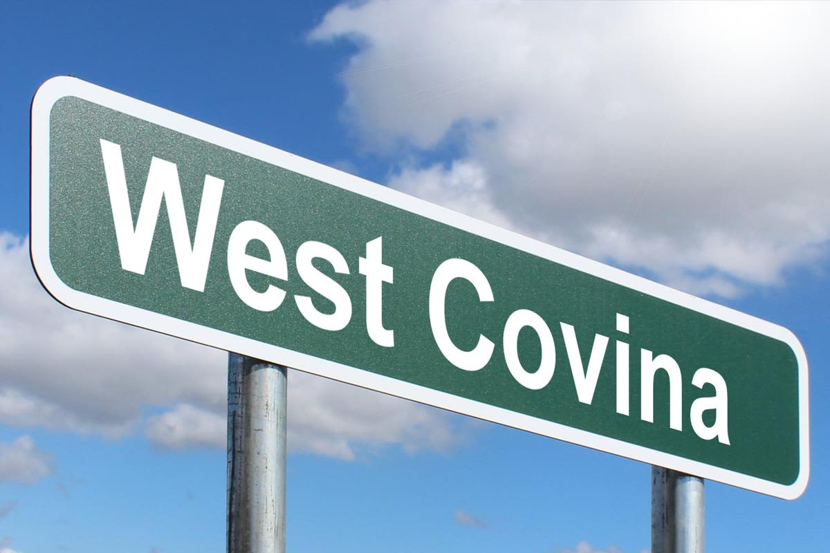 City sign near West Covina, California near Merrill Gardens at West Covina