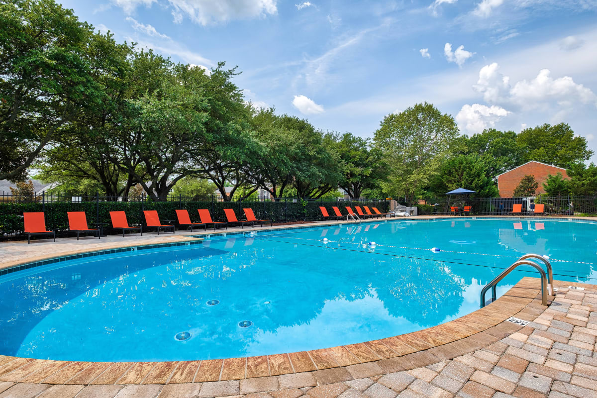 Beautiful resort style pool at Maple Bay Townhomes in Virginia Beach, Virginia