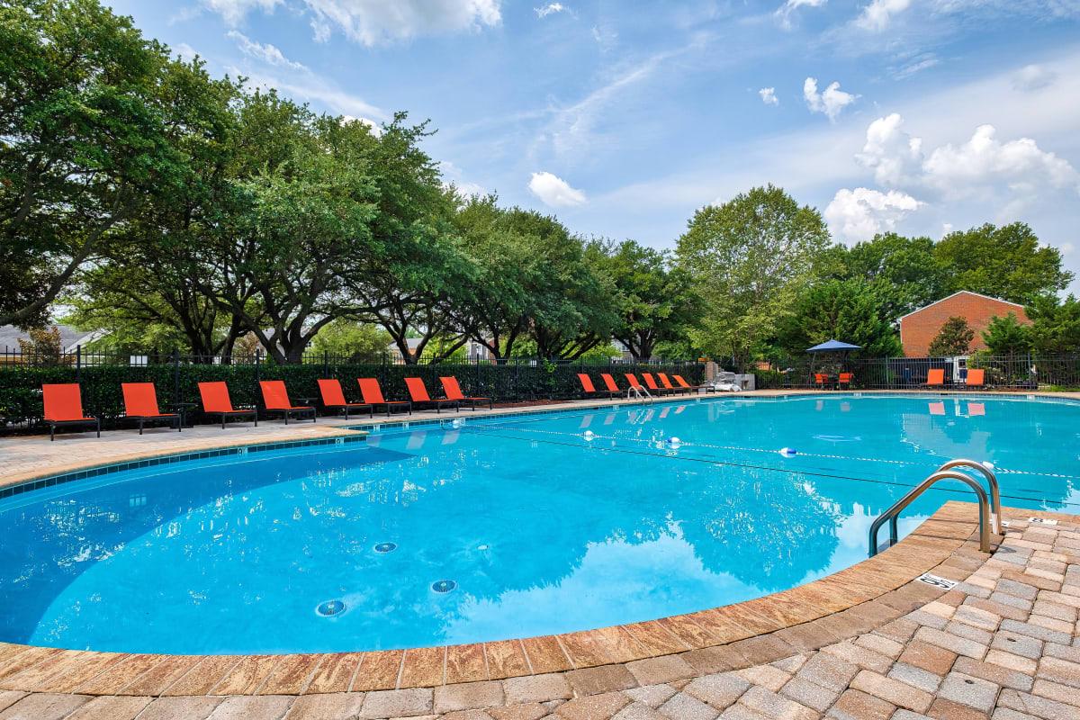 Beautiful resort style pool at Maple Bay Townhomes in Virginia Beach, Virginia