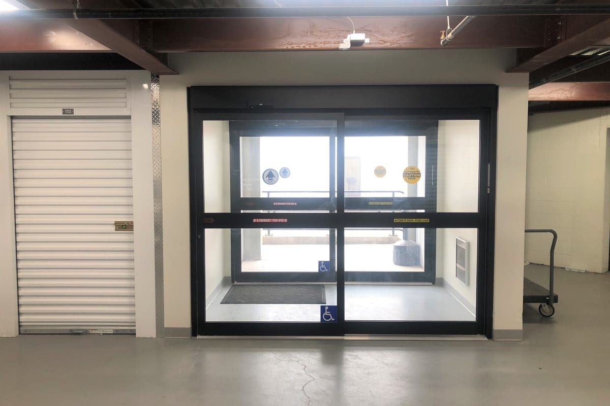 Automatic sliding door access to Storage 365 in St. Paul, Minnesota