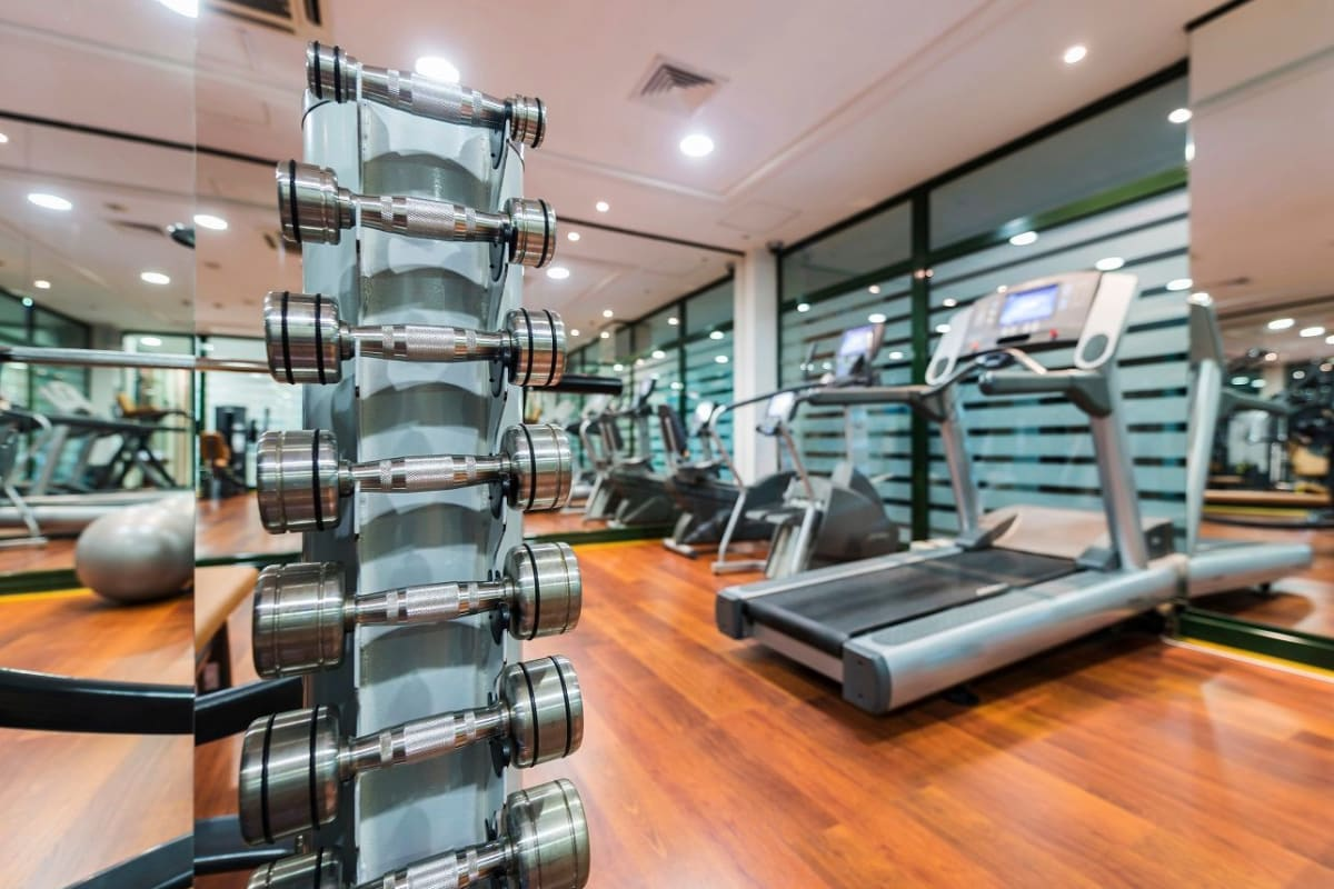 Fitness area at Artistry at Craig Ranch in McKinney, Texas