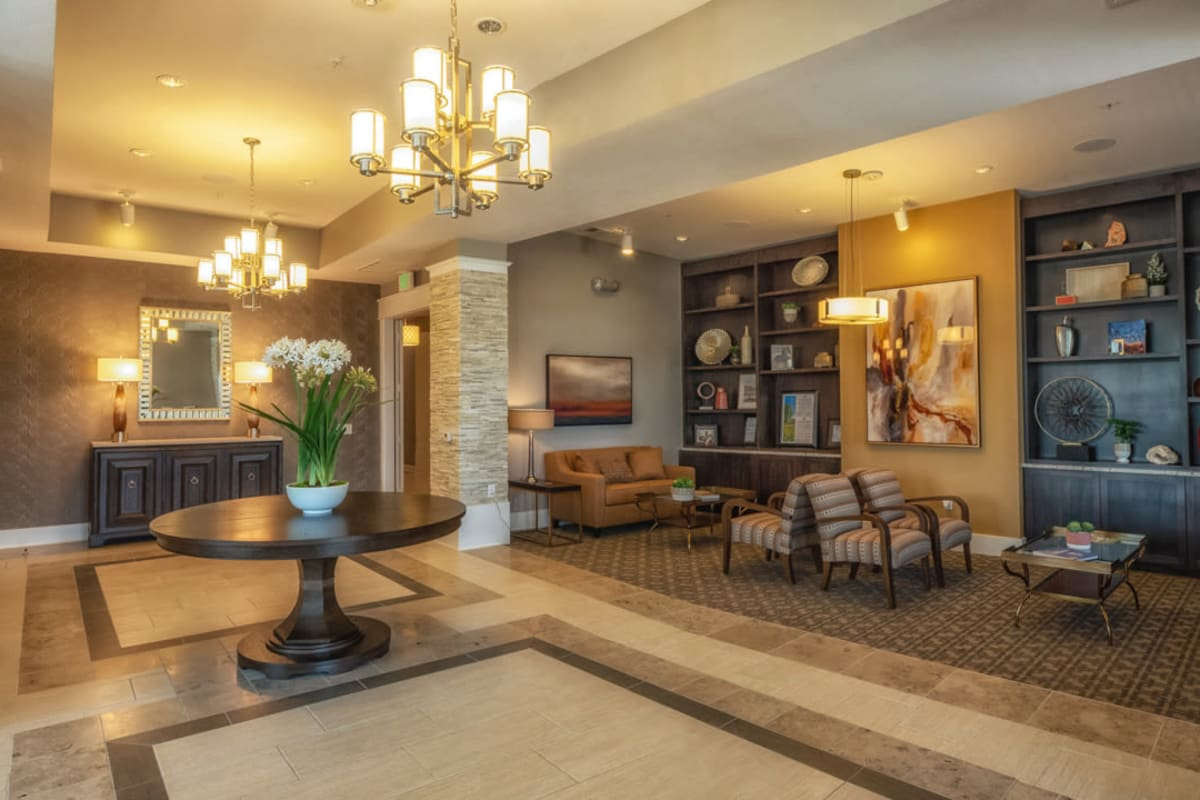 Community clubhouse entrance at Artistry at Craig Ranch in McKinney, Texas
