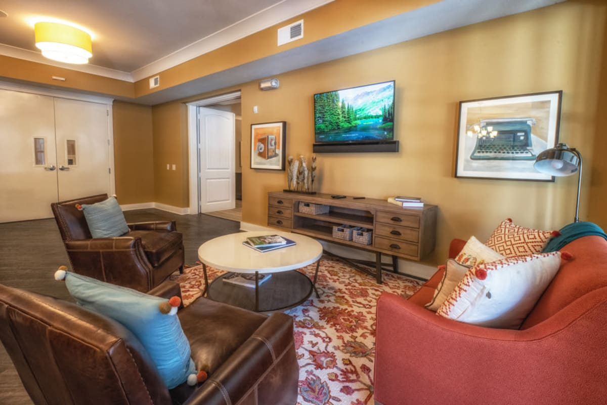 Couches in the clubhouse at Artistry at Craig Ranch in McKinney, Texas