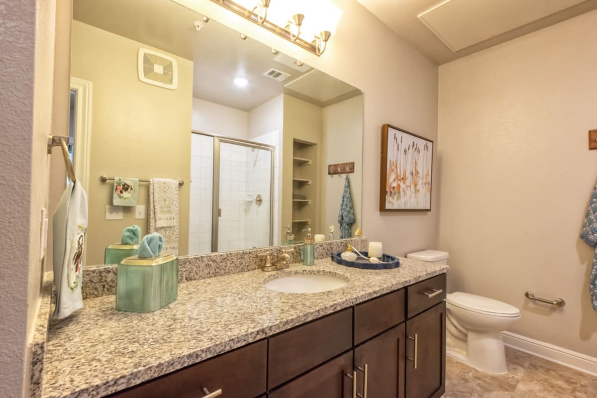 Furnished bathroom of apartments at Artistry at Craig Ranch in McKinney, Texas