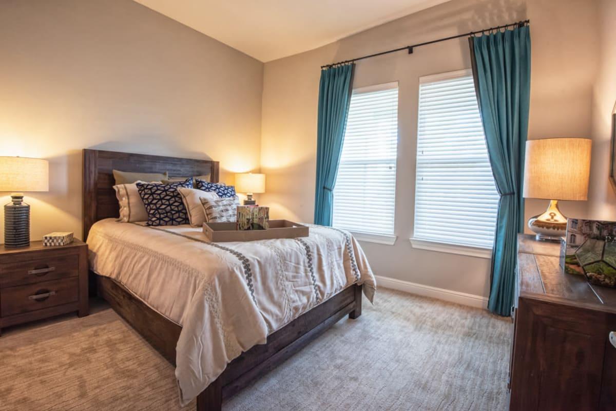 Model bedroom at Artistry at Craig Ranch in McKinney, Texas