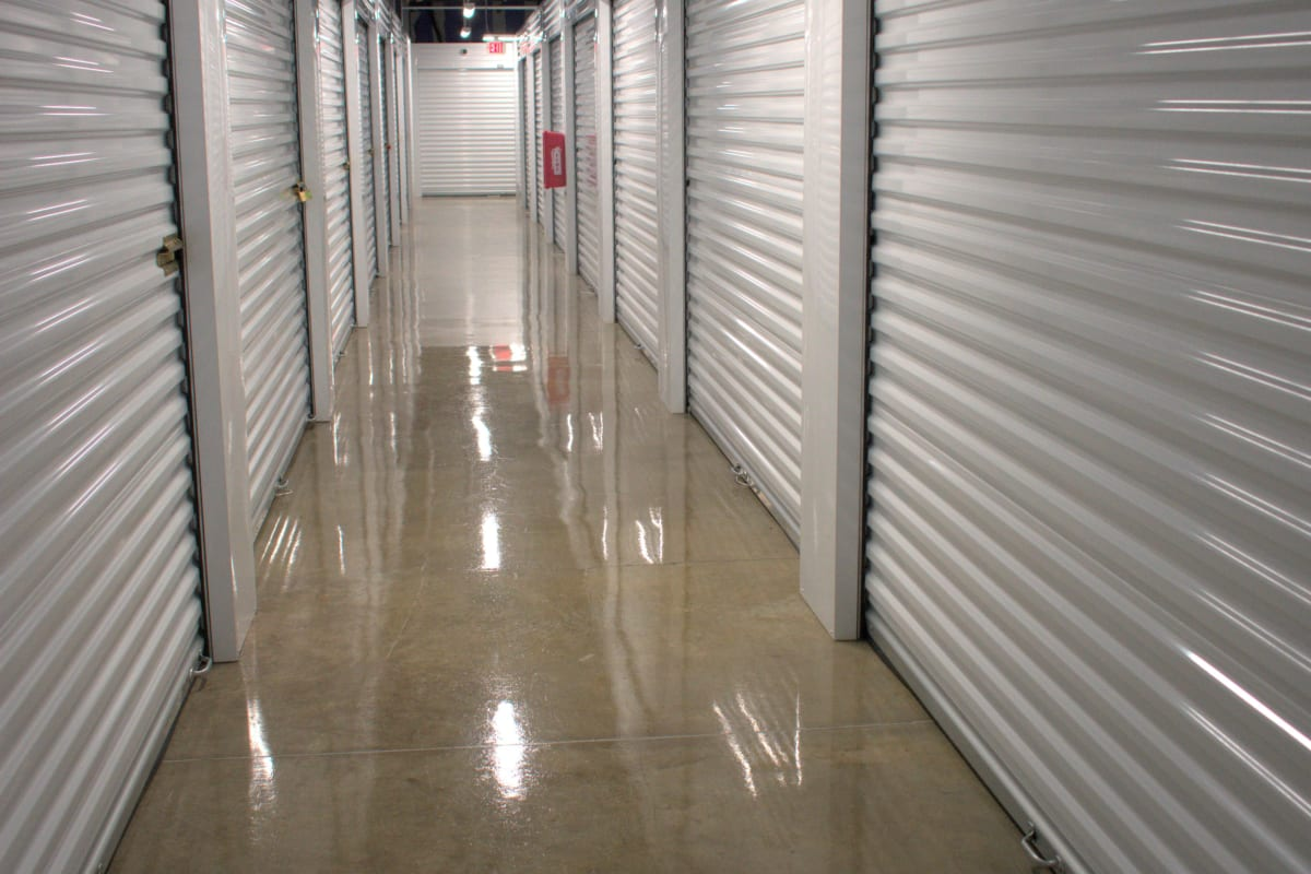 The interior storage units for rent at Storage 365 in Garland, Texas