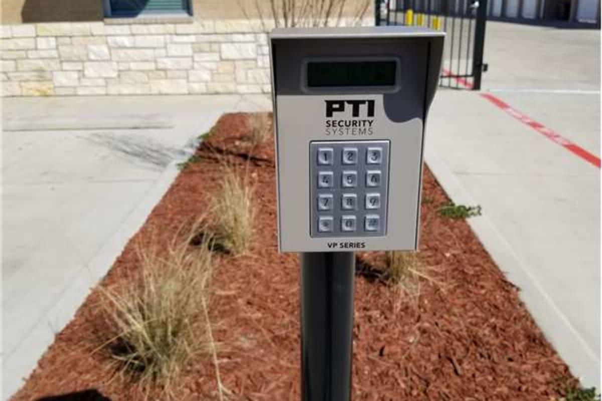 Electronic keypad entrance at Storage 365 in Colorado Springs, Colorado