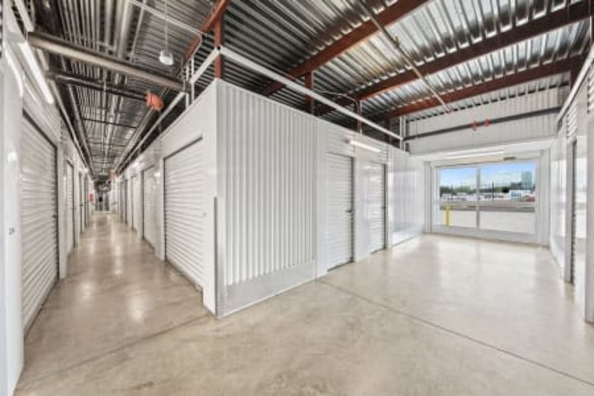The interior storage units at Storage 365 in Arlington, Texas