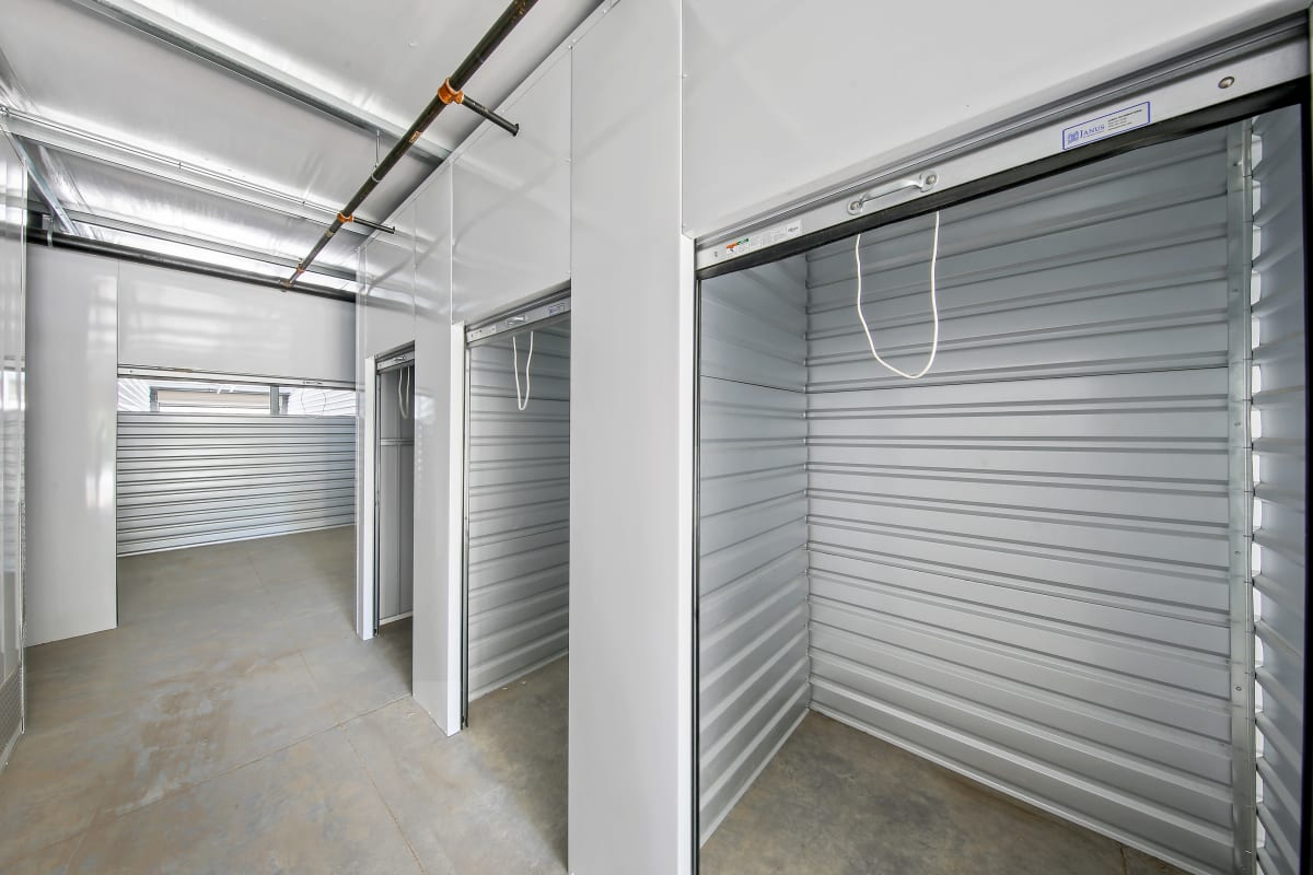 Indoor units with open doors at Storage Star Napa in Napa, California