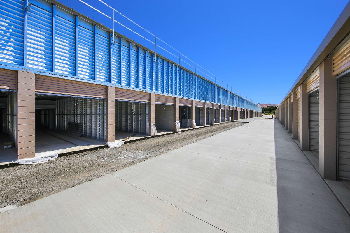 Outdoor units under construction at Storage Star Napa in Napa, California