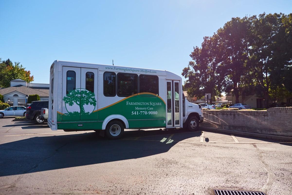 Community travel bus for residents at Farmington Square Medford in Medford, Oregon