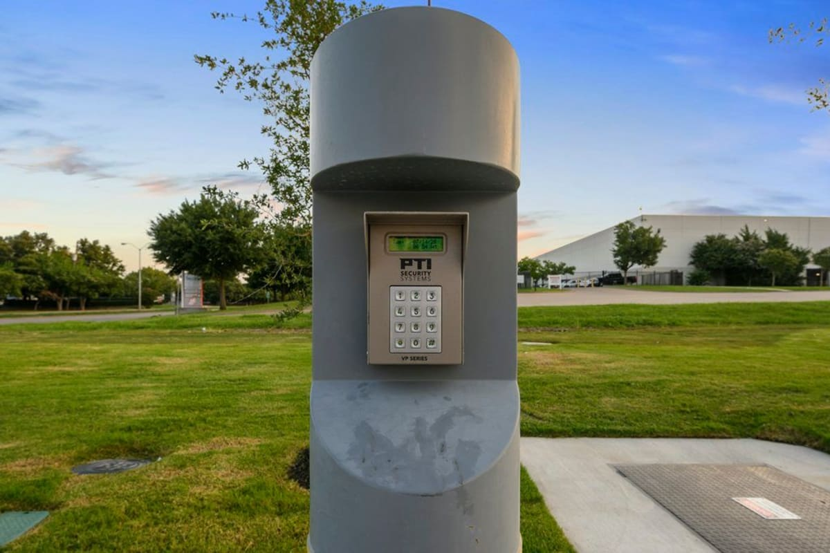 Electronic keypad entrance at Storage 365 in Dallas, Texas