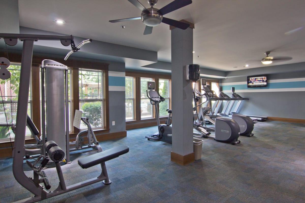 Spacious onsite fitness center at Atlas Lavista Hills in Atlanta, Georgia