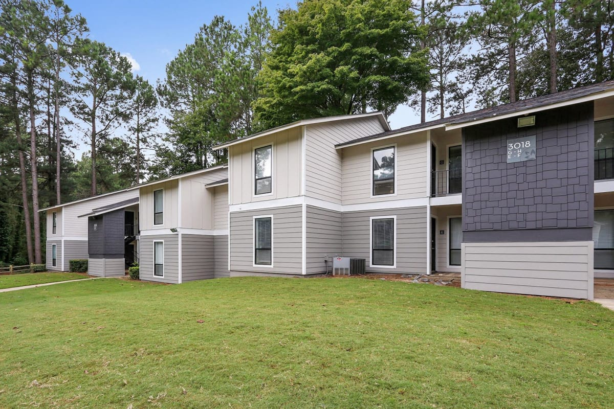 Gorgeous wooded setting at our community at Park at Vinings in Smyrna, Georgia