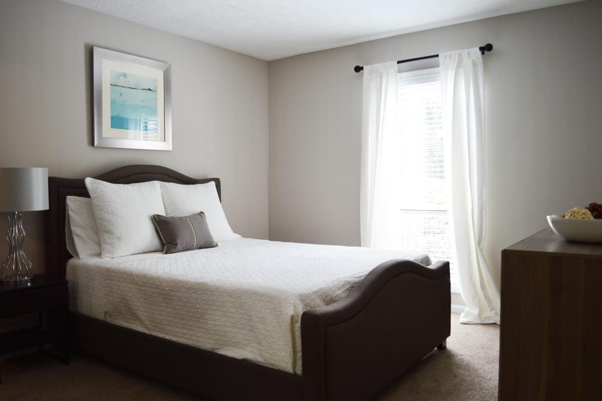 Plush carpeting in a model home's bedroom at Park at Vinings in Smyrna, Georgia