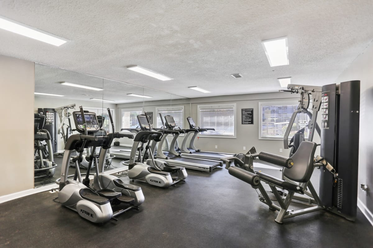 Onsite fitness center at Reserve at Peachtree Corners in Norcross, Georgia