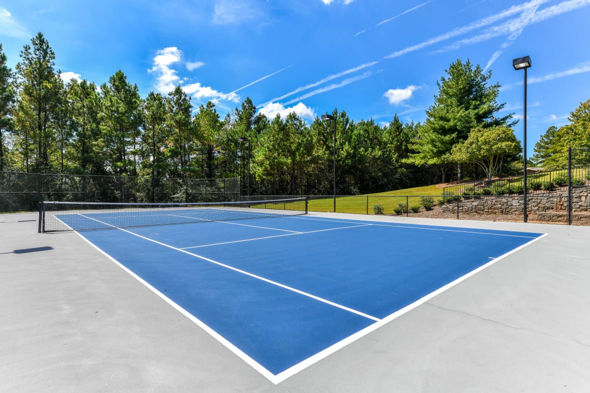 Tennis courts on a gorgeous day at 860 South in Stockbridge, Georgia