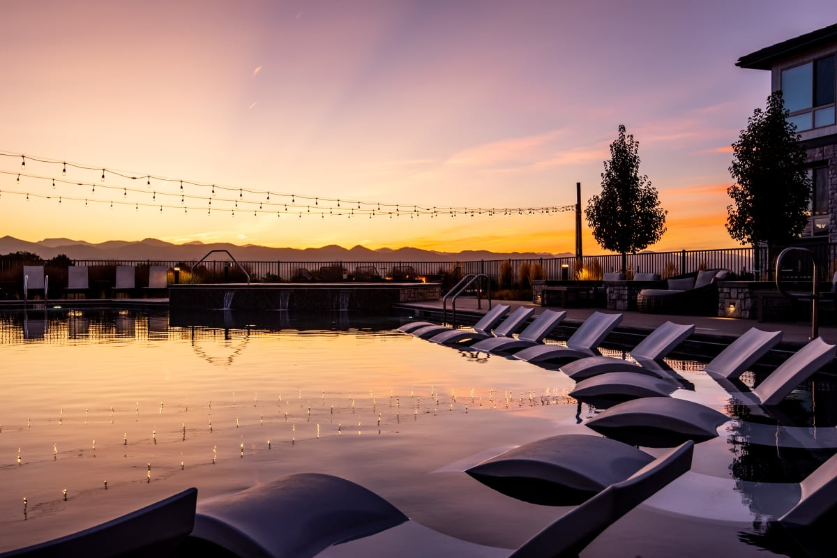 Luxury Swimming Pool at Solana Lucent Station in Highlands Ranch, Colorado