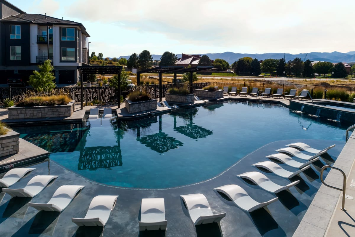 Swimming Pool at Solana Lucent Station in Highlands Ranch, Colorado
