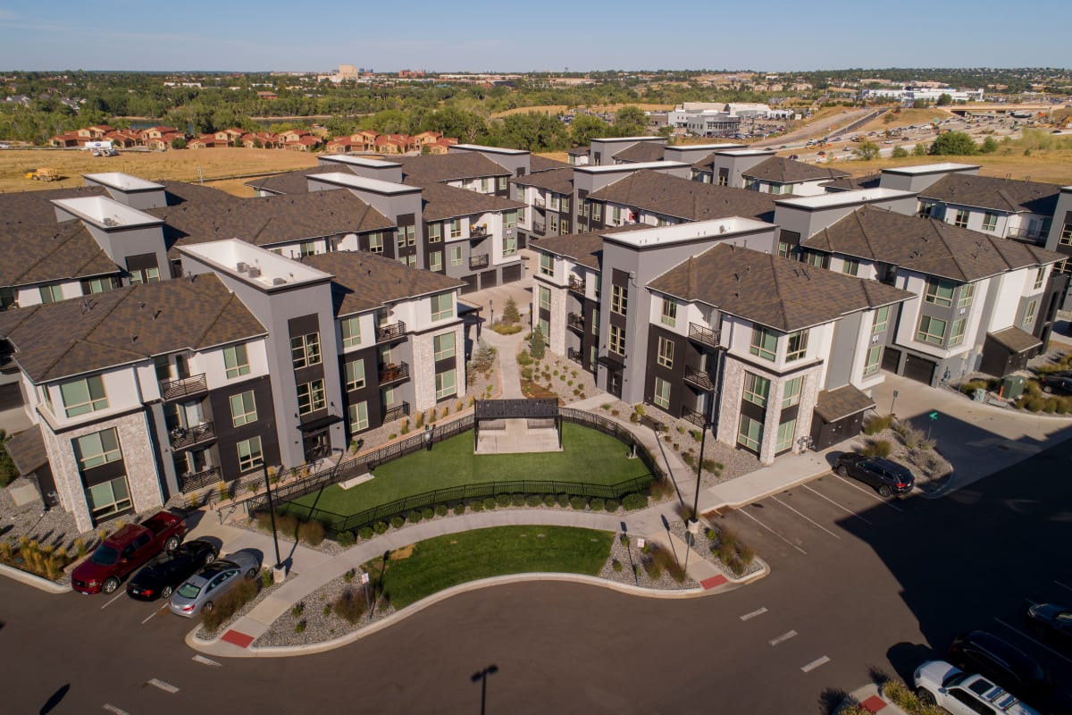 Exterior of Solana Lucent Station | Apartments in Highlands Ranch, Colorado