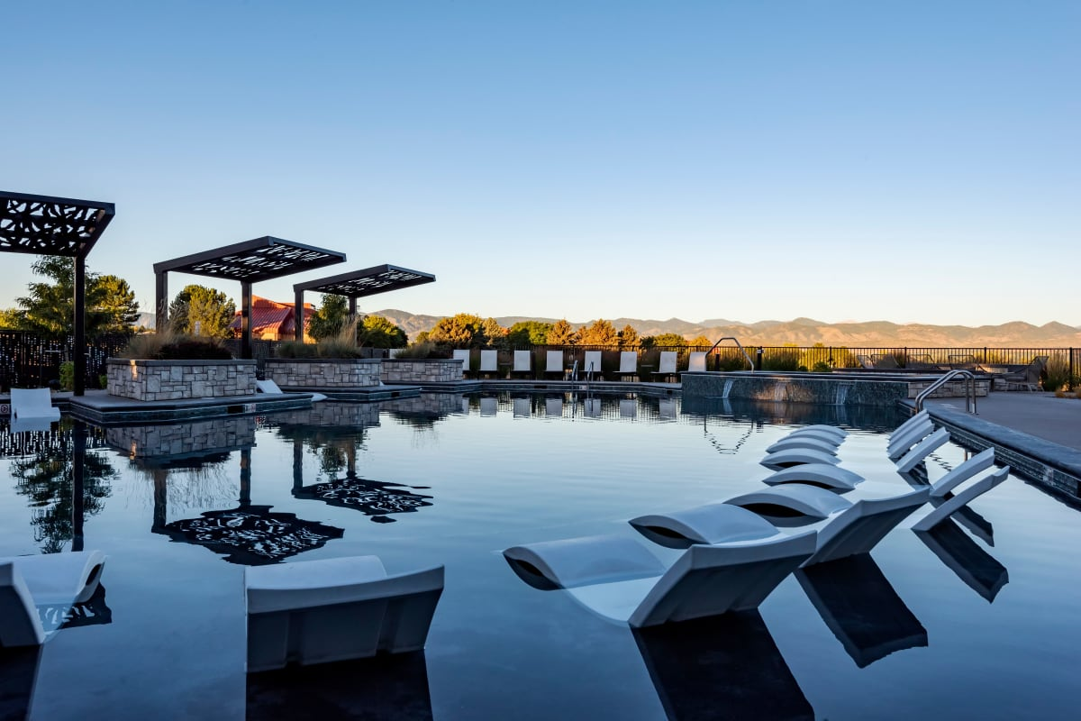 Swimming Pool at Apartments in Highlands Ranch, Colorado