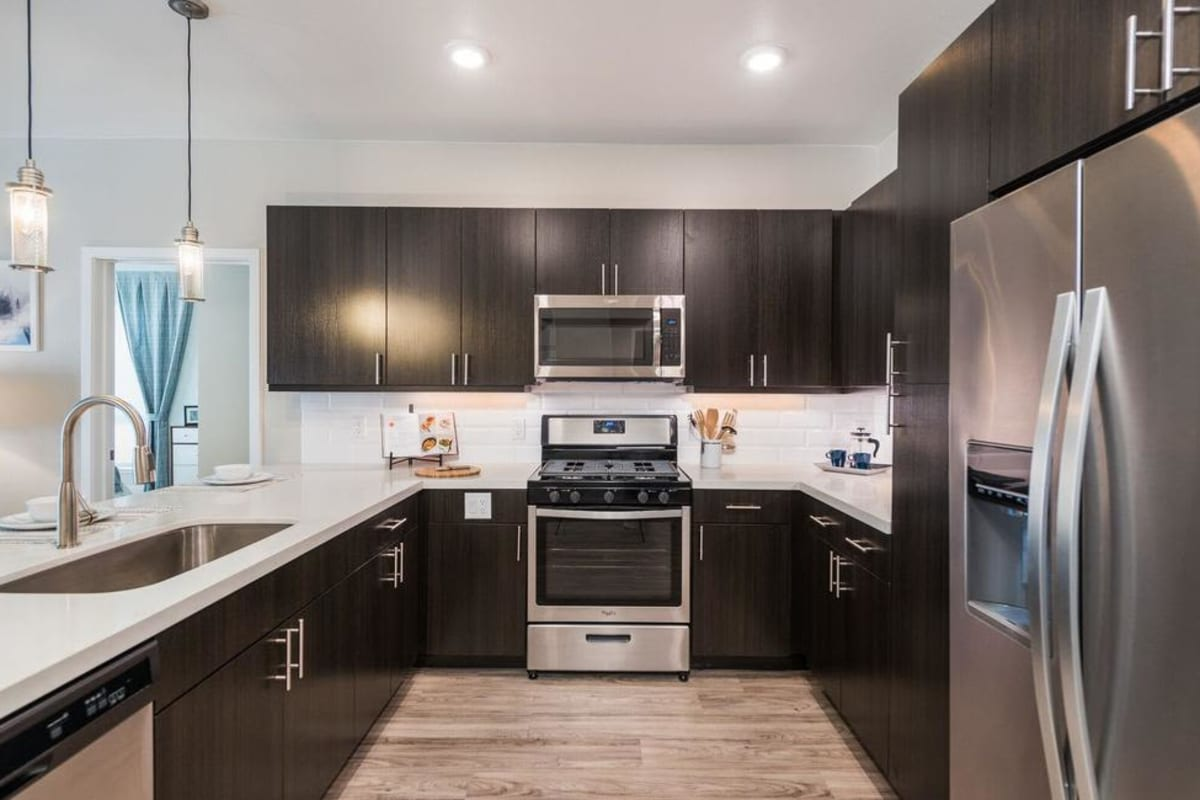 Kitchen at Solana Lucent Station in Highlands Ranch, Colorado