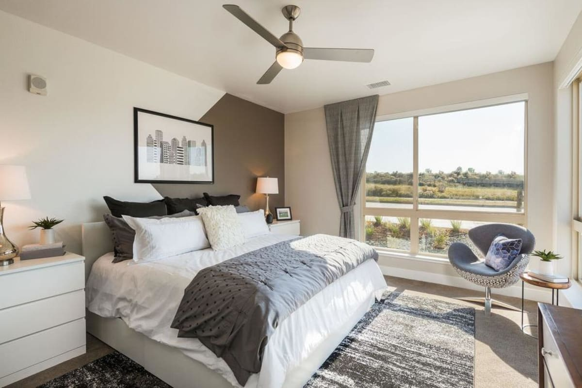 Luxury Bedroom at Solana Lucent Station in Highlands Ranch, Colorado