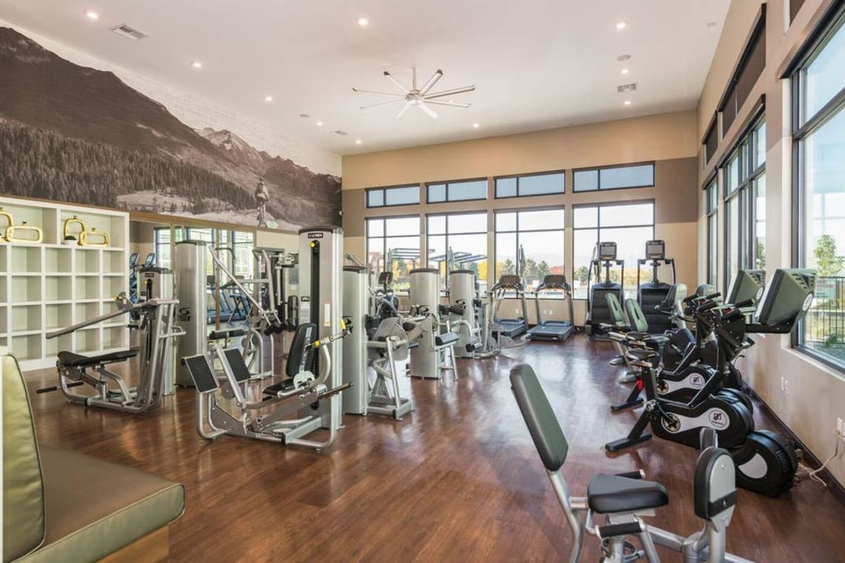 Solana Lucent Station offers a Fitness Center in Highlands Ranch, Colorado