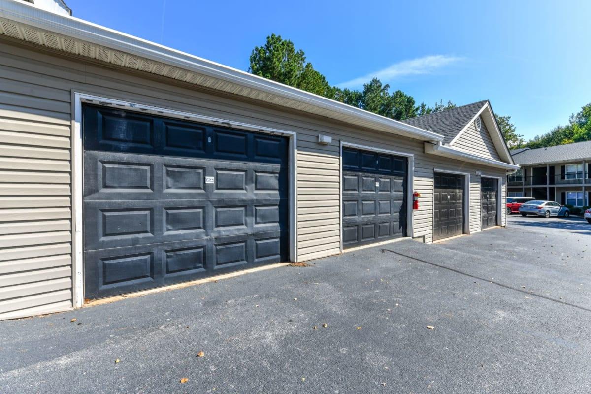 Private parking garages at 900 Dwell in Stockbridge, Georgia