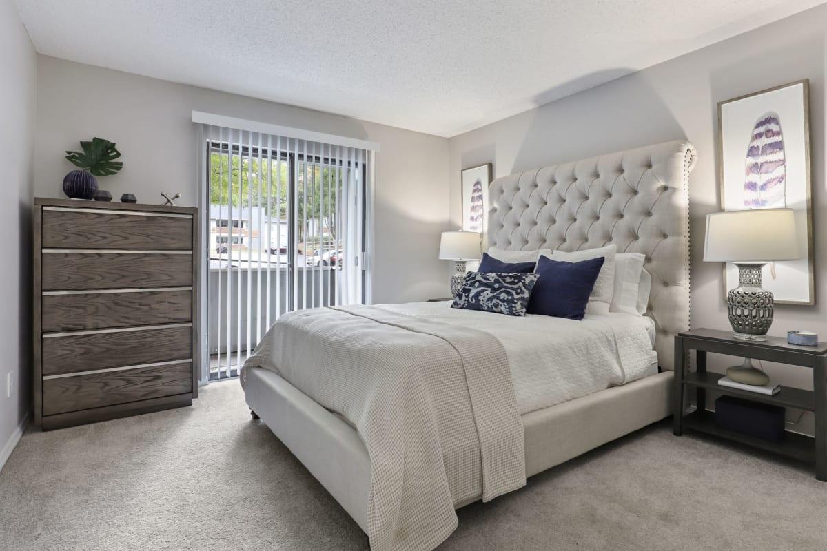Bright bedroom at The Alcove in Smyrna, Georgia