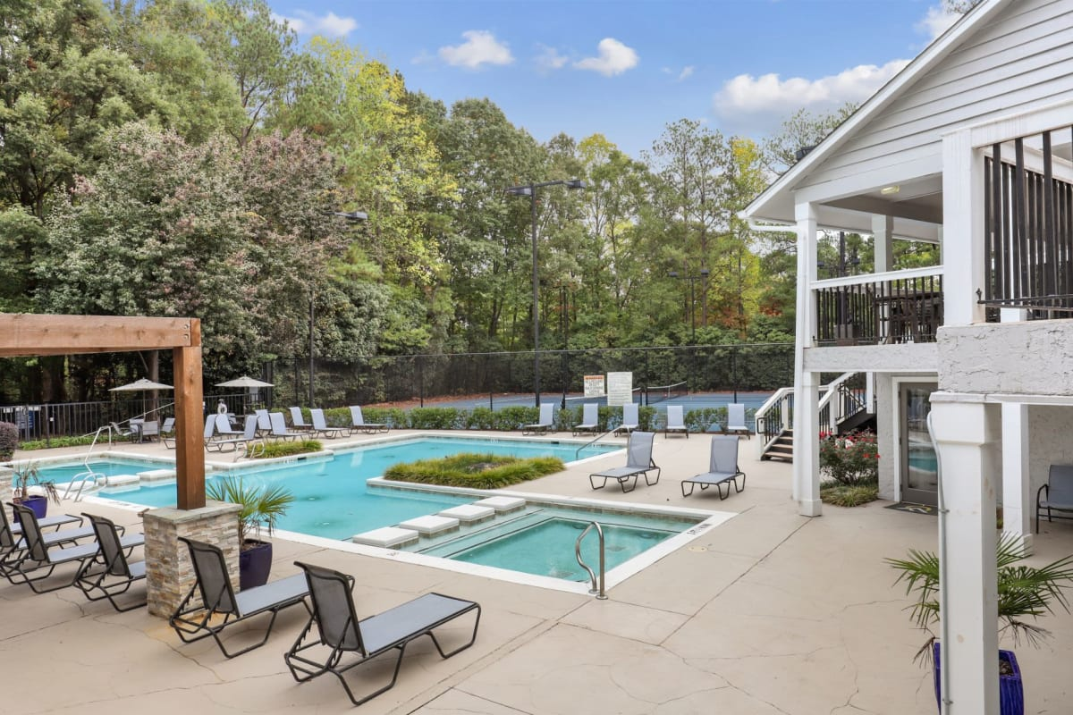 Resort-style swimming pool at The Alcove in Smyrna, Georgia