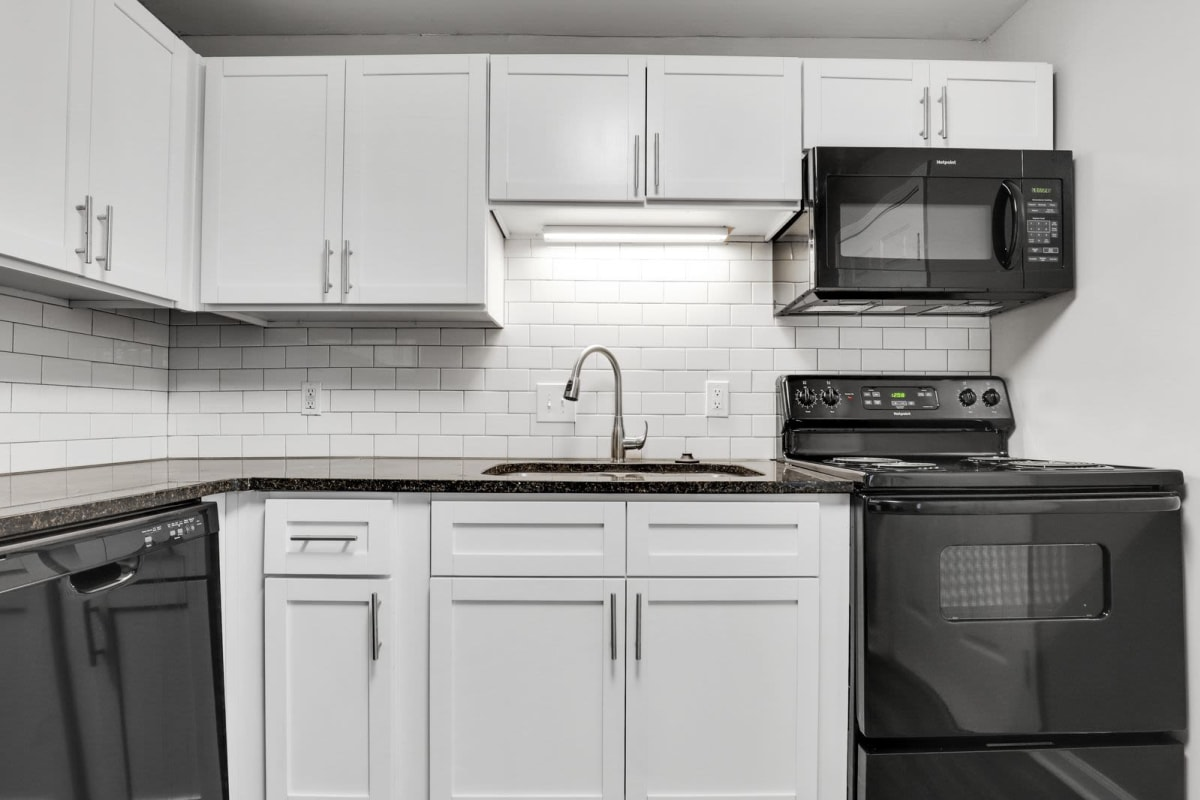 Modern, sleek kitchen at The Broadway at East Atlanta in Atlanta, Georgia