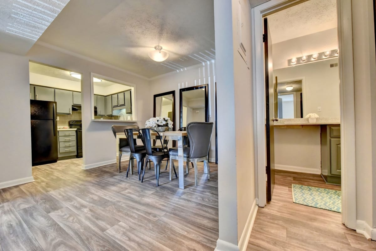 Open concept floor plans at Fields at Peachtree Corners in Norcross, Georgia