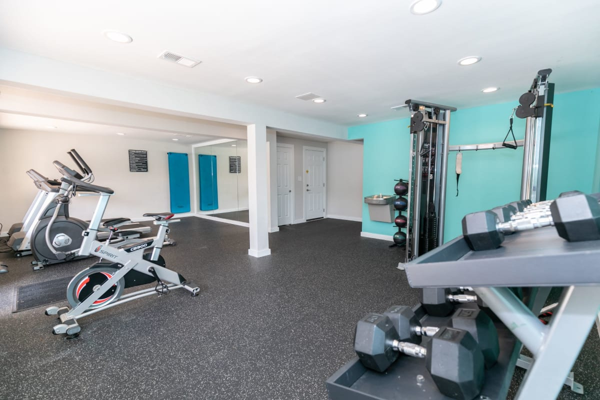 Fitness center at The BelAire Apartment Homes in Marietta, Georgia