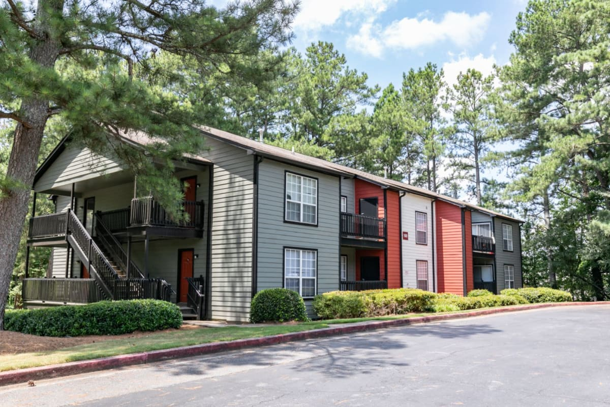 Exterior of The BelAire Apartment Homes in Marietta, Georgia