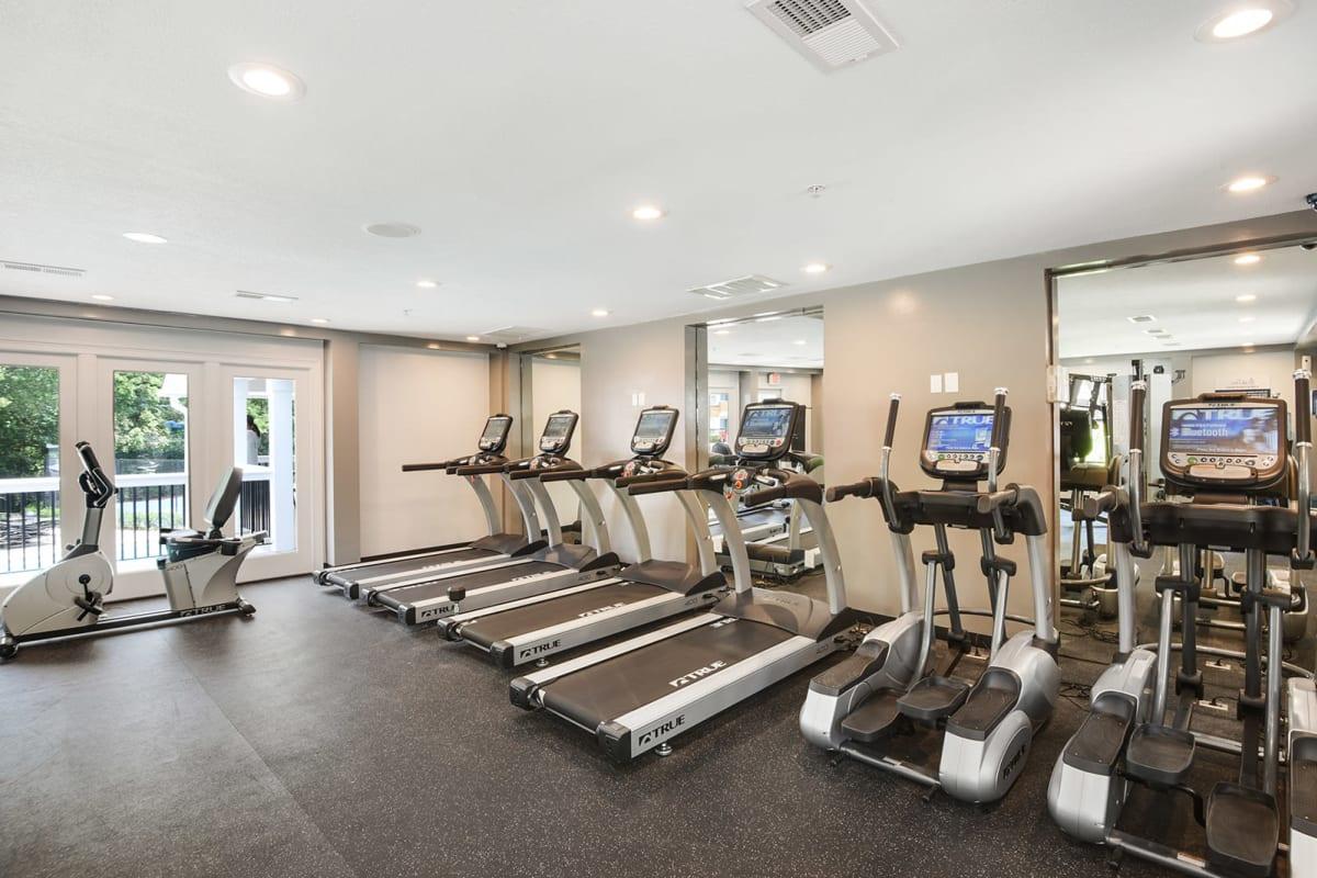 Fitness center at The Alcove in Smyrna, Georgia