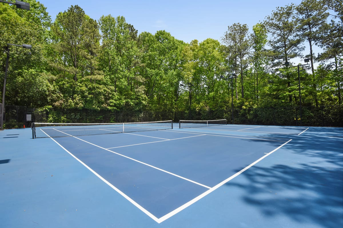 Tennis courts at The Alcove in Smyrna, Georgia
