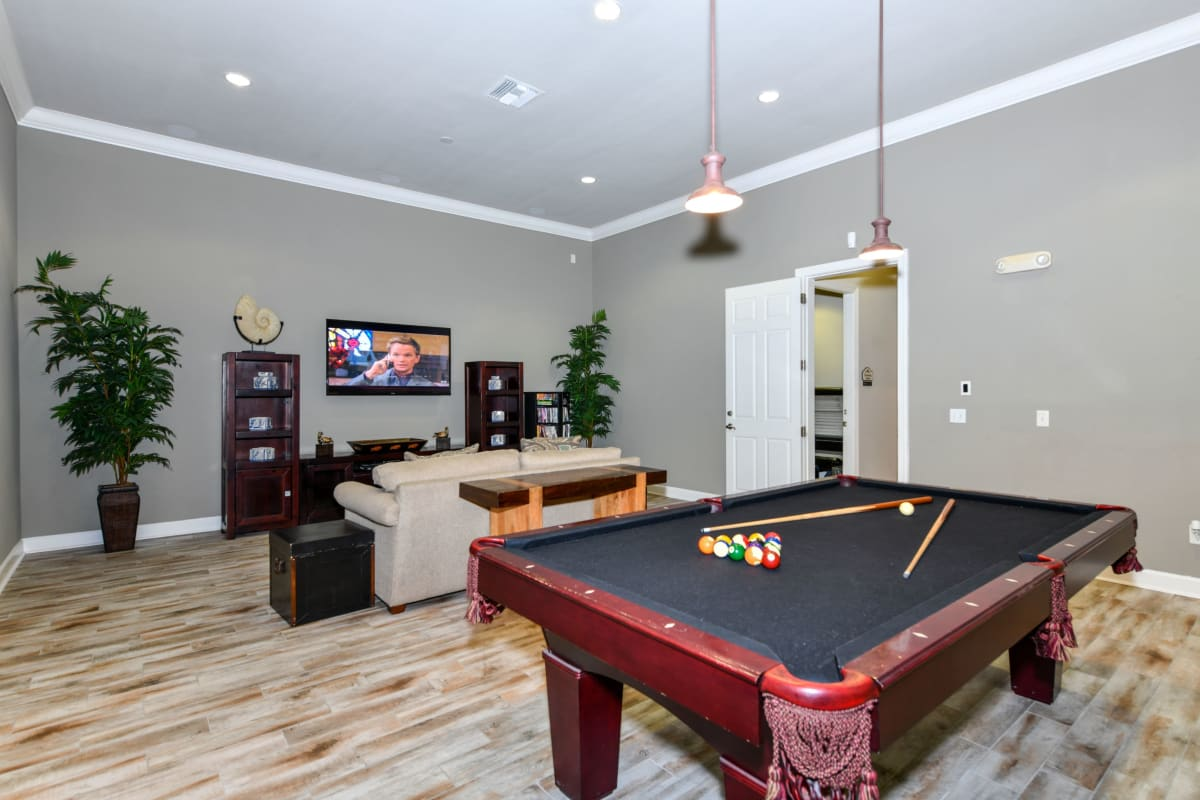 Billiards table at Courtney Isles in Yulee, Florida