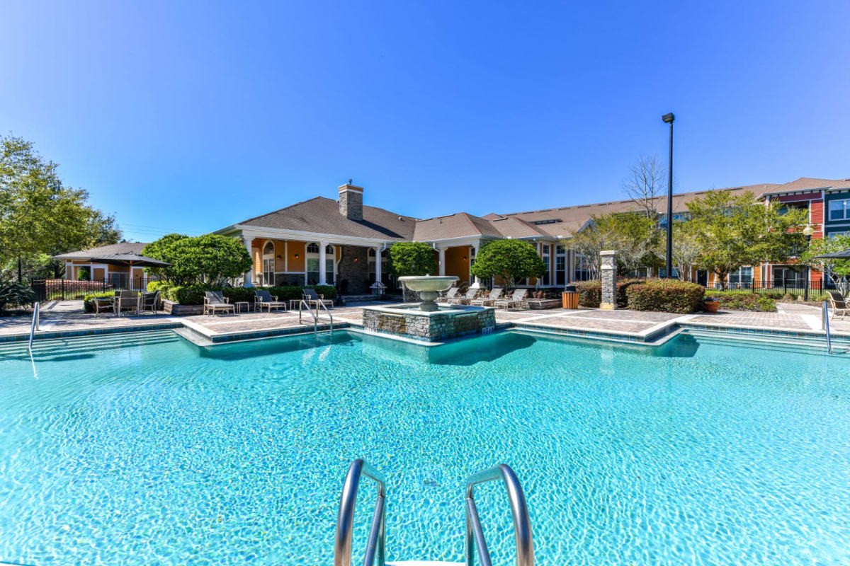 Resort-style swimming pool at Courtney Isles in Yulee, Florida