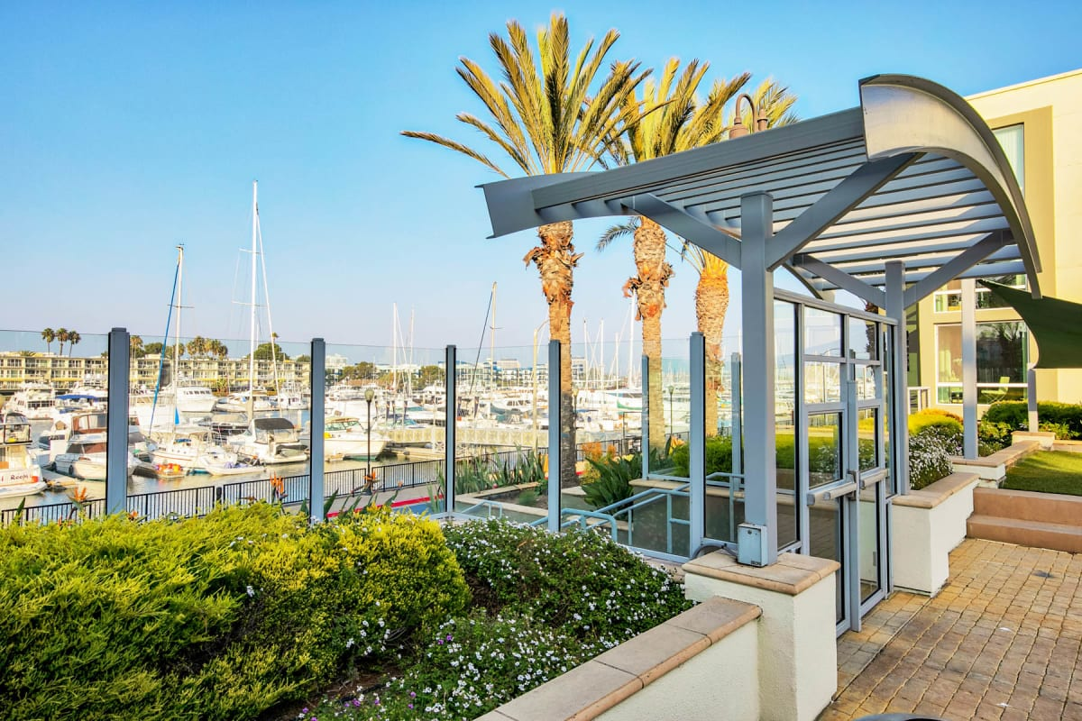 Beautiful waterfront location at Waters Edge at Marina Harbor in Marina Del Rey, California